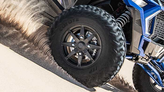 "Rzr XP® 4 Turbo S - MONSTROUS 32"" TIRES"