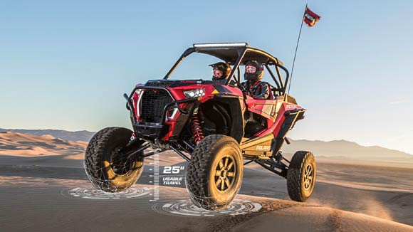 "RZR XP® Turbo S - 25"" USABLE TRAVEL"
