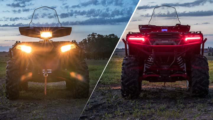 SPORTSMAN XP 1000 - Powerful Forward Lighting & LED Tail Lights